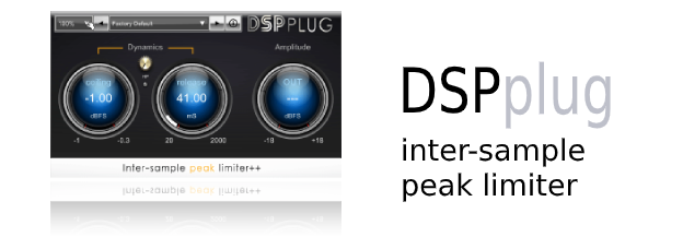 DSPplug inter-sample peak limiter