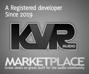 A KVR Marketplace Vendor and Developer since 2019
